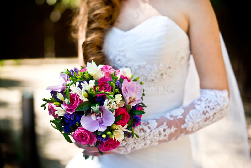 Букет невесты и свадьбы стоковые изображения rf