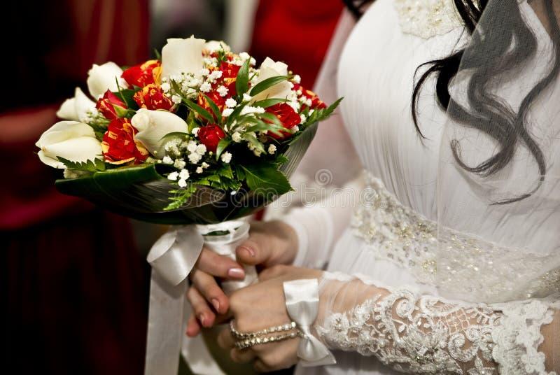 Букет невесты и свадьбы стоковые фото