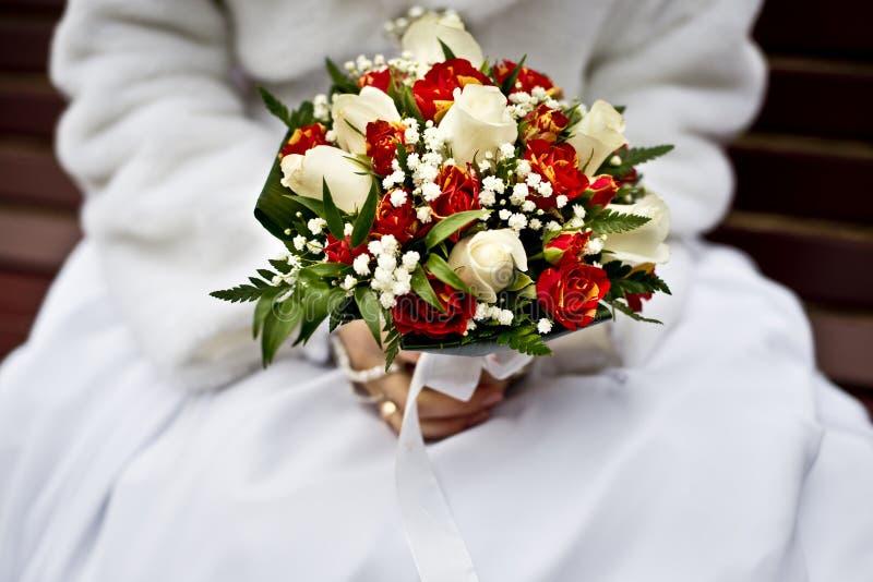 Букет невесты и свадьбы стоковое фото rf