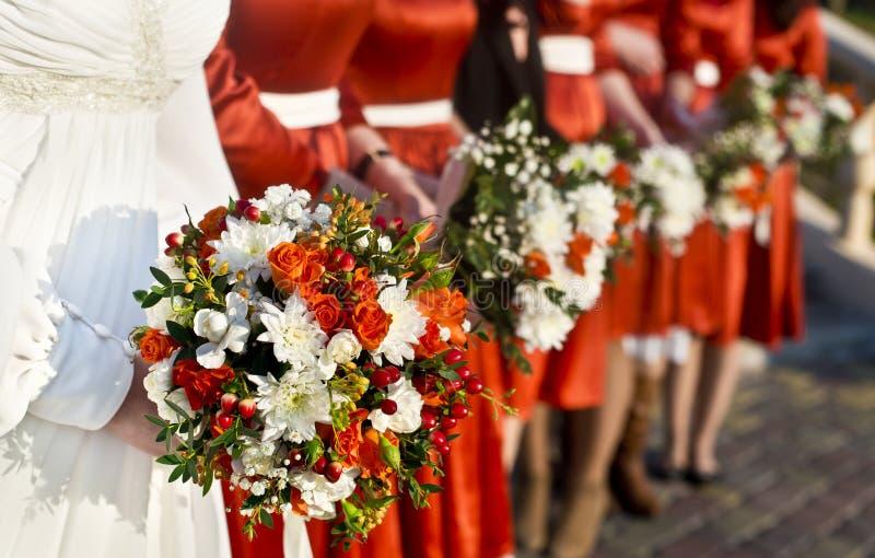 Букет невесты и свадьбы стоковое изображение rf