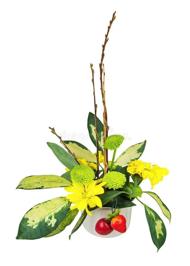 Download Букет от цветков, ягод и верб Pussy разветвляет Стоковое Изображение - изображение насчитывающей catkins, springtime: 81814391
