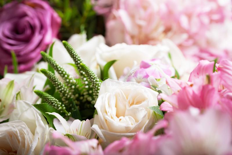 Букет различных цветов в качестве фона стоковое фото rf