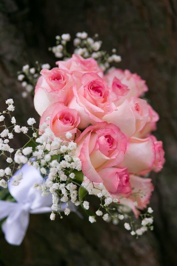 Букет розовых роз стоковые фотографии rf