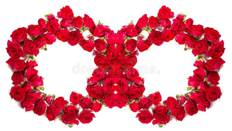 Букет роз аранжированных, что сформировать кольца или элемент дизайна для флористических тем стоковое фото
