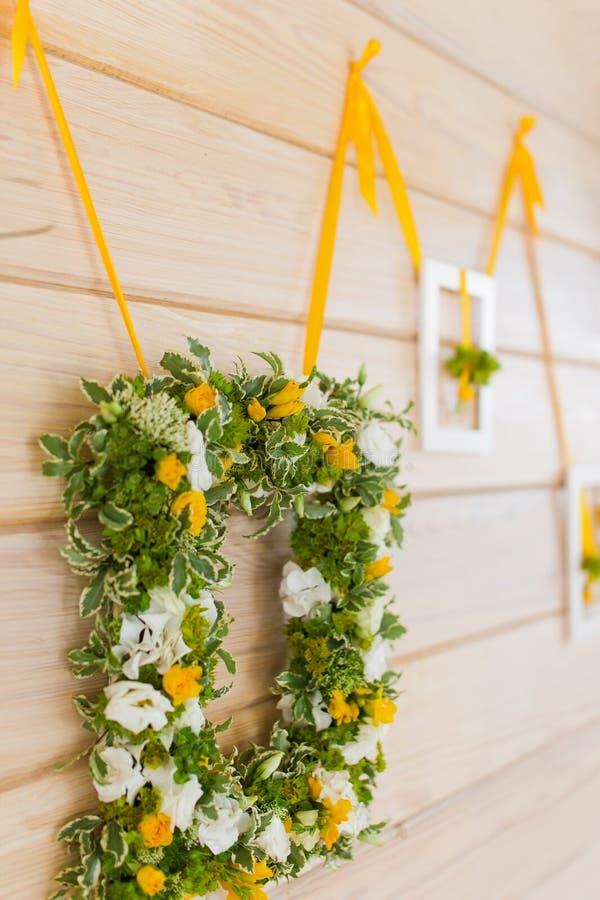 Букет свадьбы на рамке стоковое изображение rf