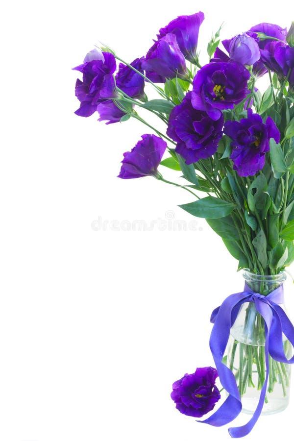 Букет фиолетовых цветков eustoma стоковое фото