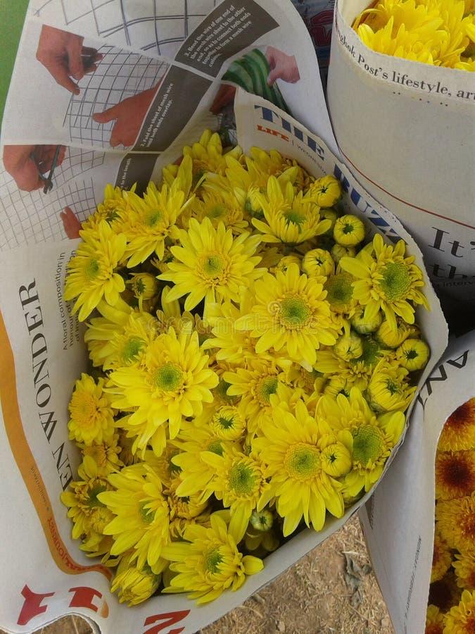 Букет хризантем стоковая фотография