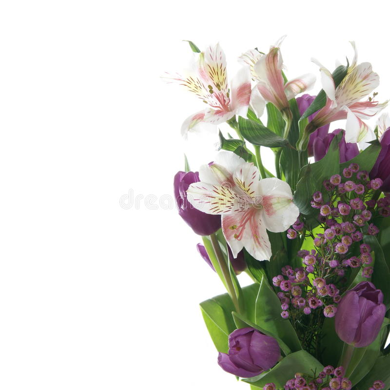 Букет цветка лилии стоковая фотография rf
