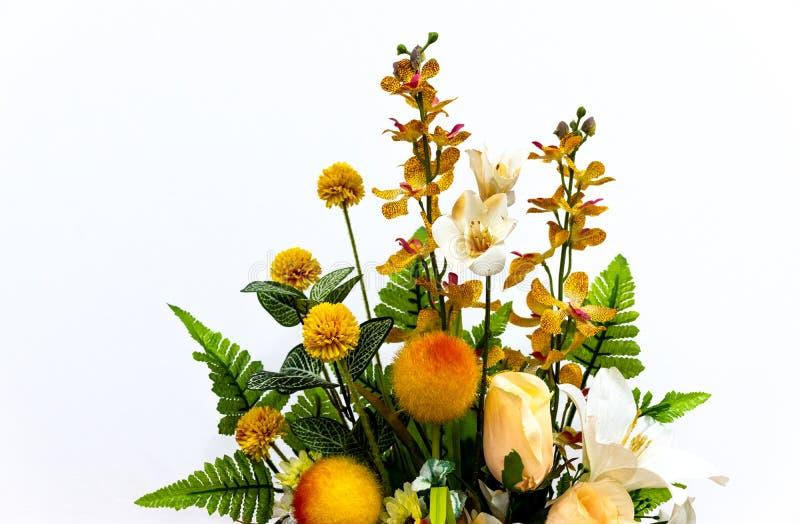 Букет цветка на белой предпосылке стоковая фотография