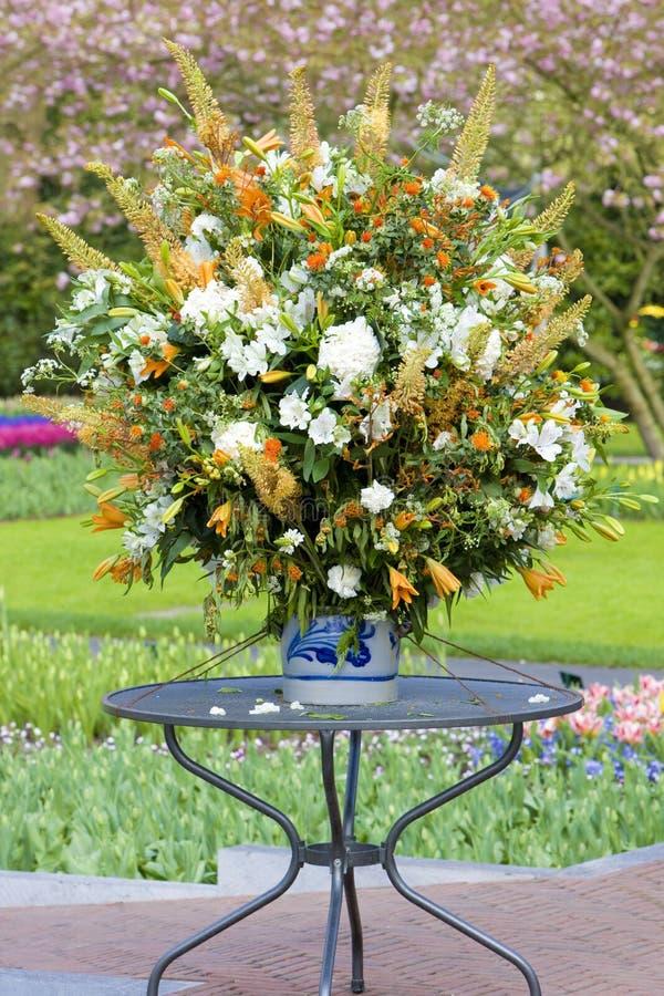 букет цветка, сады Keukenhof, Lisse, Нидерланд стоковое фото rf