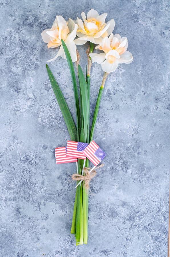 Букет цветков на День памяти погибших в войнах в США стоковая фотография rf