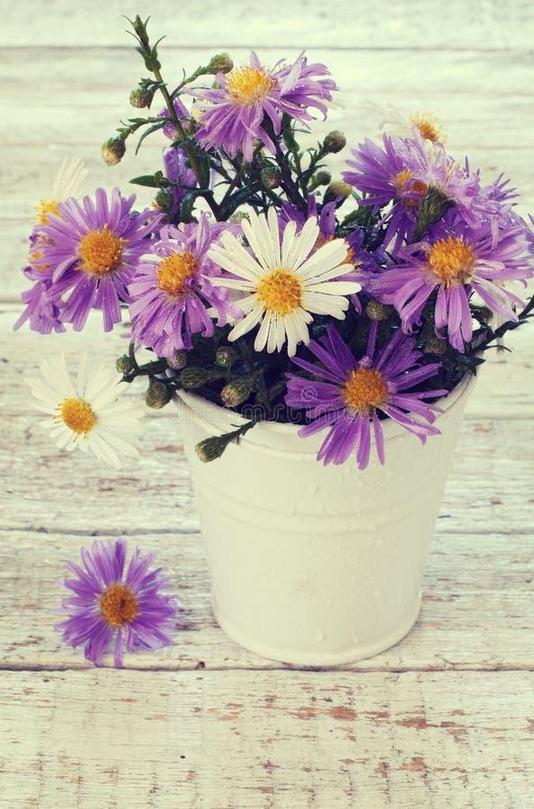 Download Букет ярких Wildflowers в ведре Стоковое Фото - изображение насчитывающей сезон, ведерко: 33737168