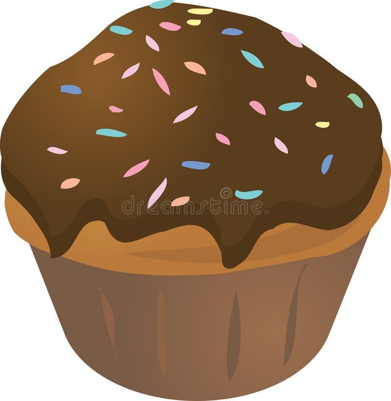 Булочка пирожня иллюстрация штока
