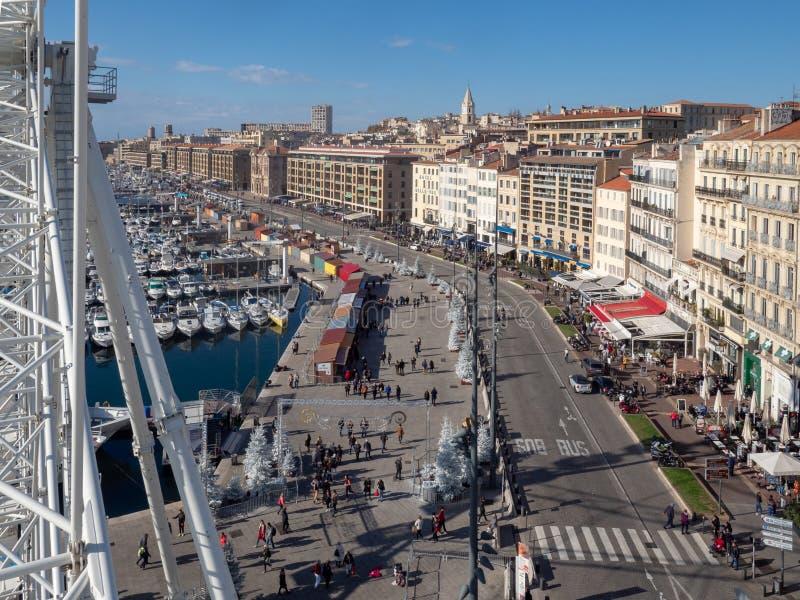 Бульвар Quai du порта, марсель стоковые фотографии rf