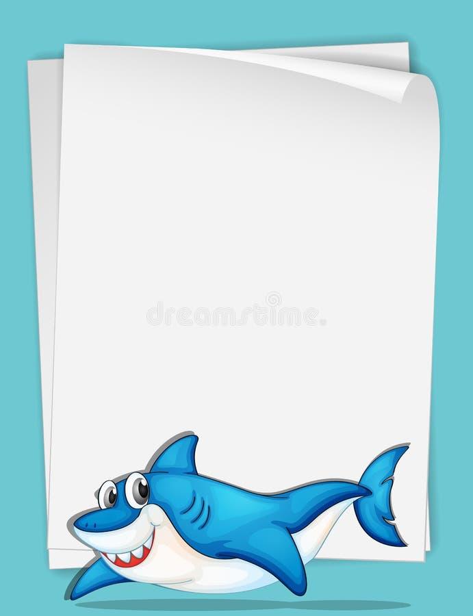 Бумага акулы иллюстрация вектора