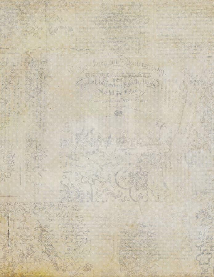 Бумага античного сбора винограда grungy текстурированная стоковое изображение