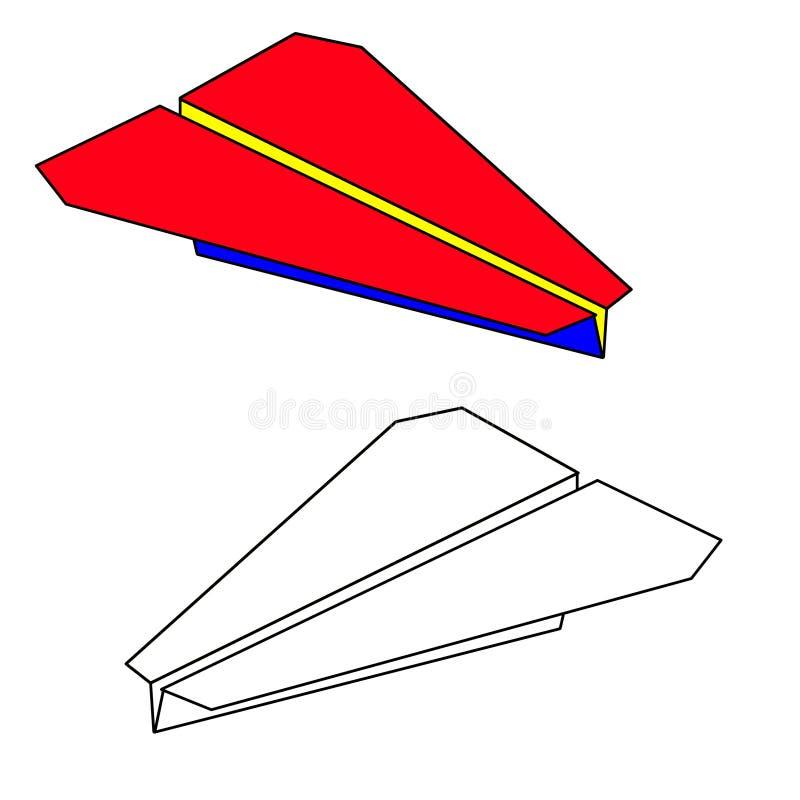 бумага аэроплана иллюстрация штока