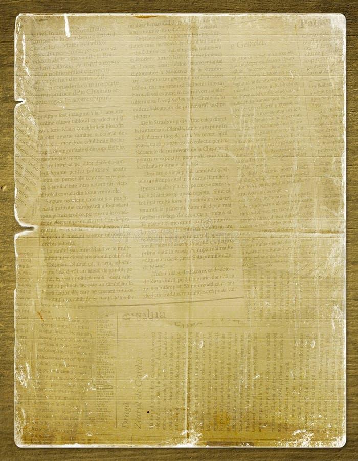 бумага газеты приглашения grunge иллюстрация штока