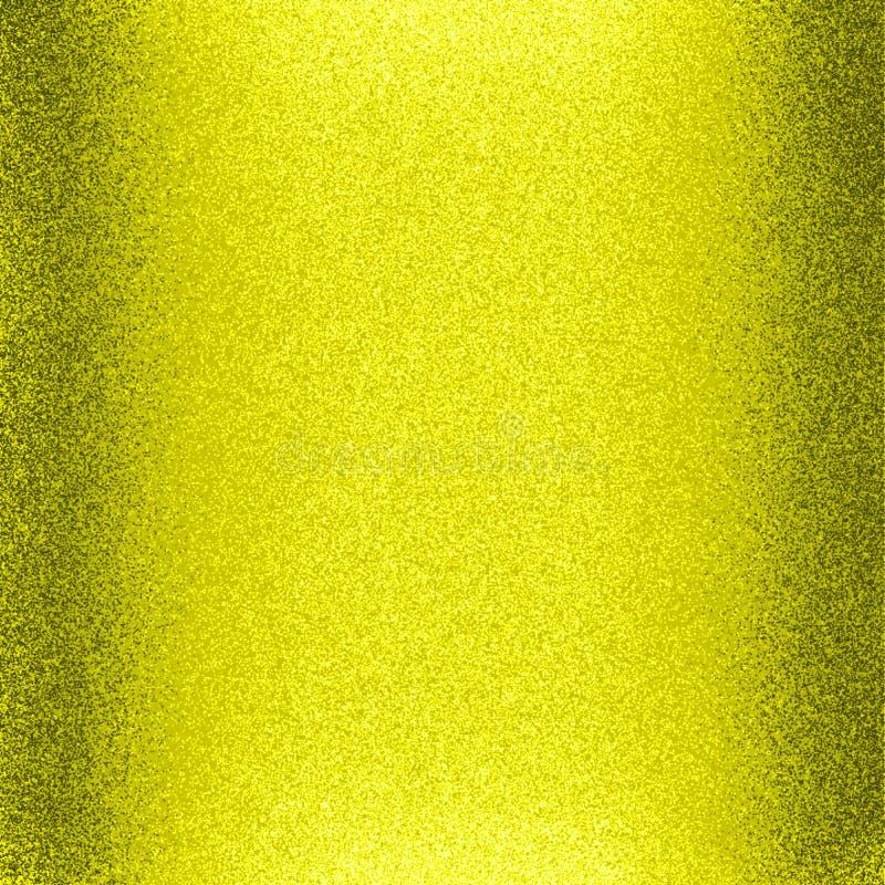 Бумага желтого цвета лоснистая и сияющая яркого блеска с компьютером света и влияния 3 d произвела фоновое изображение и дизайн о иллюстрация штока