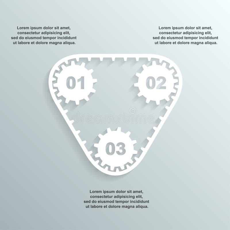 Бумага зацепляет infographic бесплатная иллюстрация