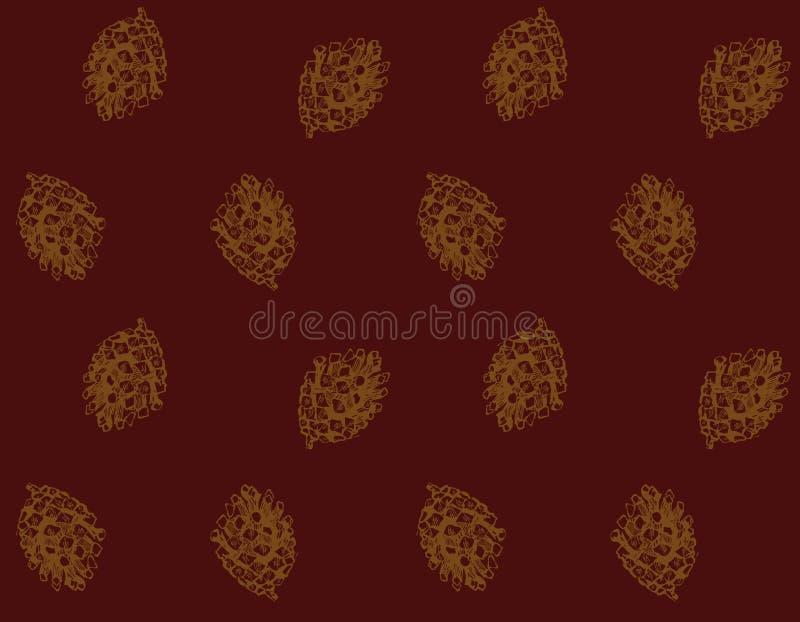 бумага золота ели конуса рождества иллюстрация штока