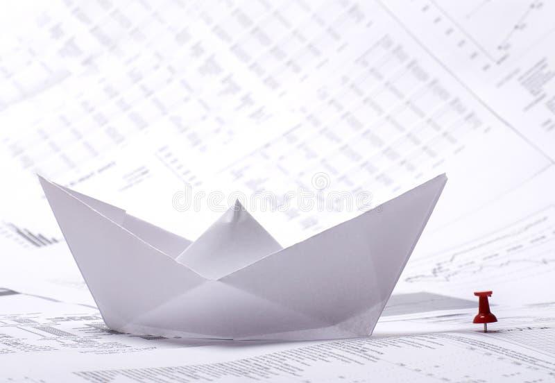 бумага изображения документов принципиальной схемы шлюпки стоковое изображение