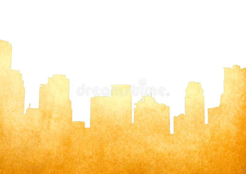 бумага изображения grunge городского пейзажа старая иллюстрация штока