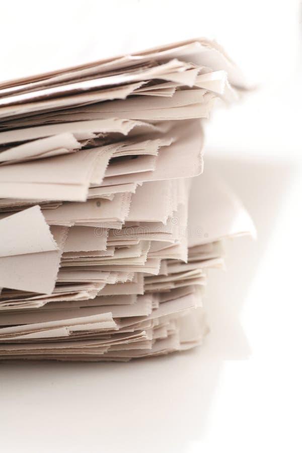 Бумага информационого бюллетеня стоковые фотографии rf