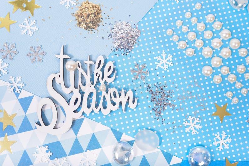 Бумага и яркий блеск для делать ремесла рождества стоковая фотография