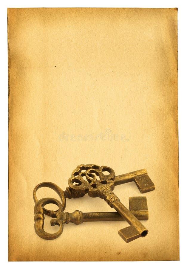 бумага ключей стоковые фотографии rf