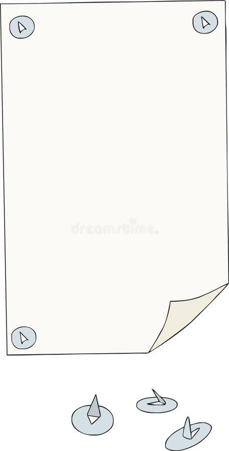 бумага кнопок стоковое изображение