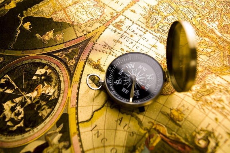 бумага компаса старая стоковые изображения