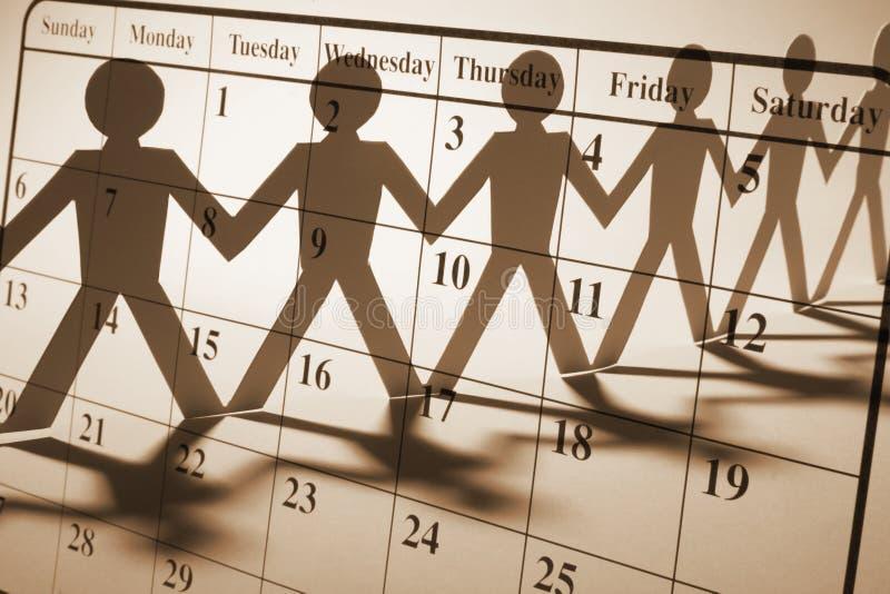 бумага кукол календара стоковые фото