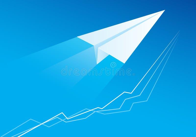 бумага летания самолета бесплатная иллюстрация