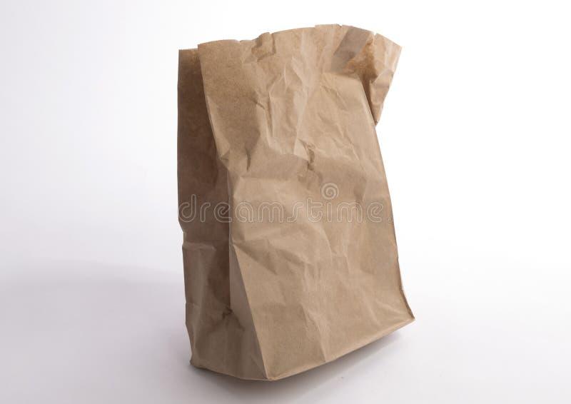 бумага мешка скомканная коричневым цветом стоковое изображение rf