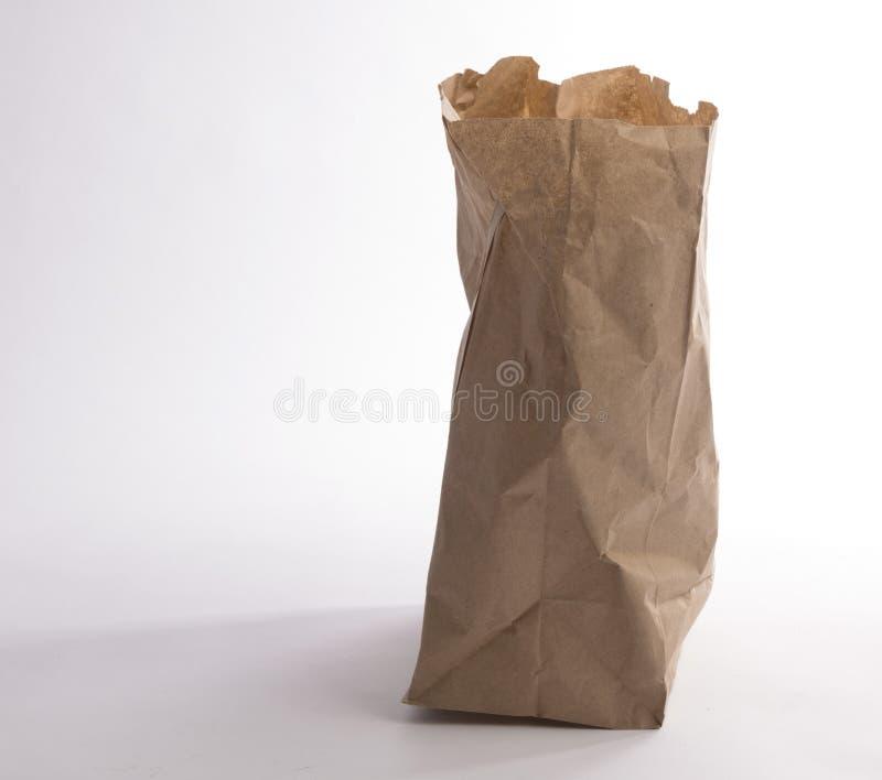 бумага мешка скомканная коричневым цветом стоковая фотография rf