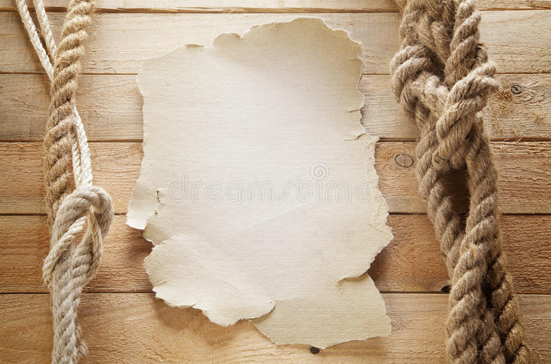 Бумага на корабле стоковые фото
