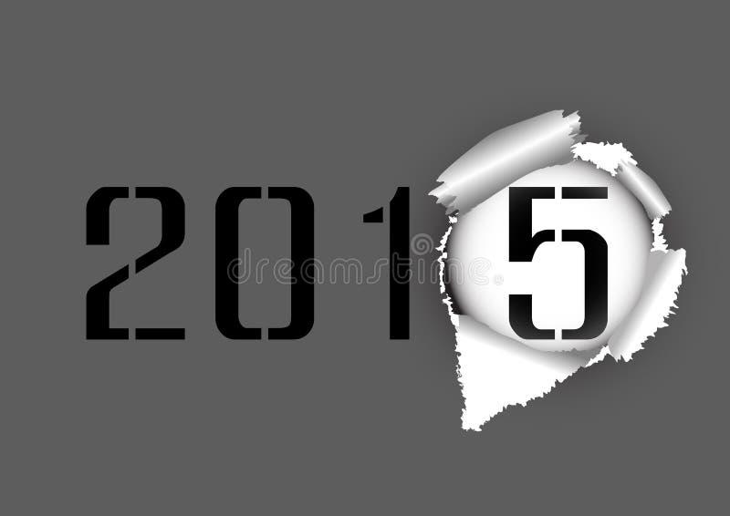 Бумага 2014-2015 отверстия разрыва иллюстрация штока