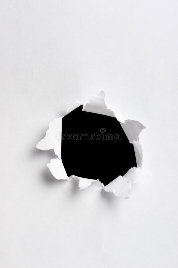 бумага отверстия стоковые изображения