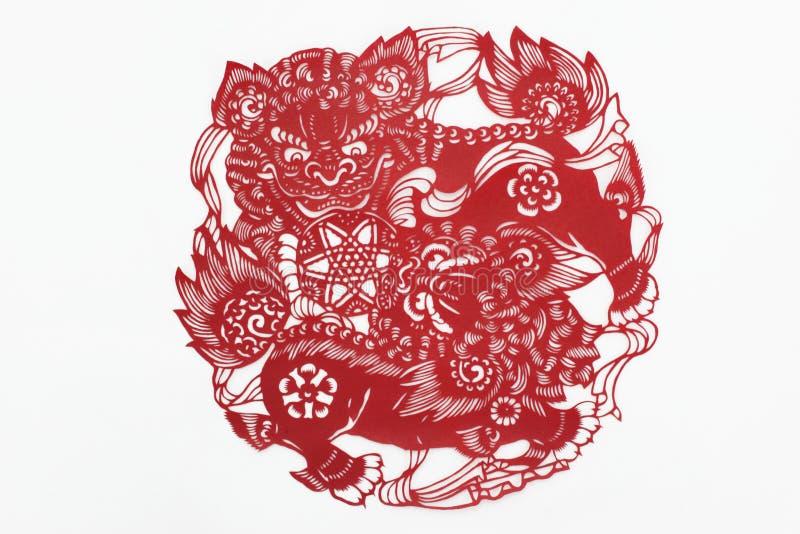 Бумага отрезка Китая вручную стоковое изображение