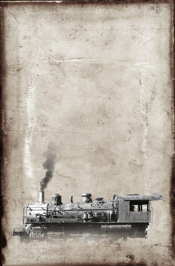 Бумага предпосылки винтажного поезда пара локомотивная стоковое изображение rf