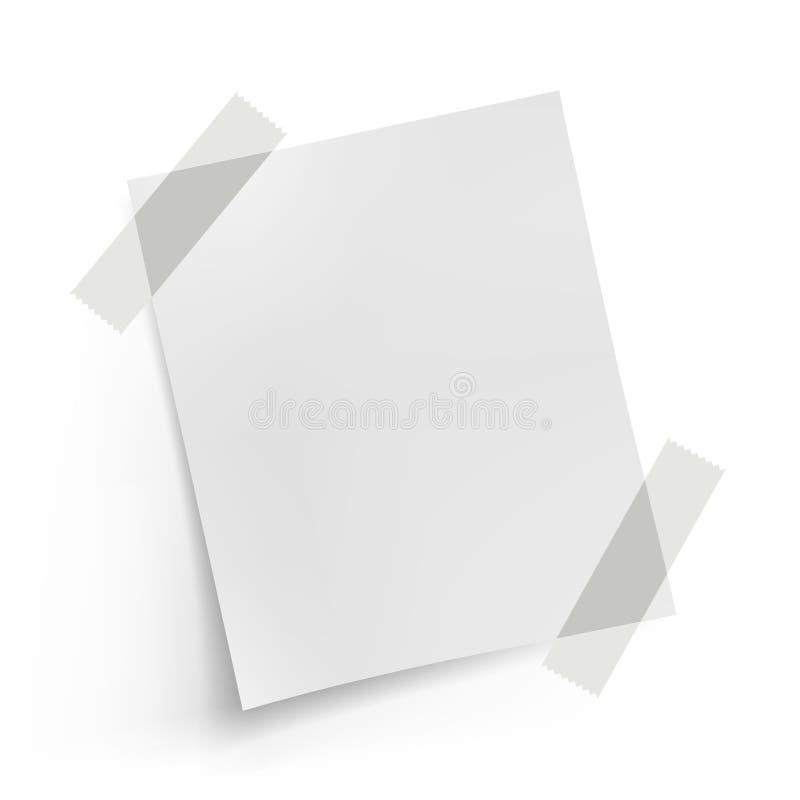 бумага примечания стоковое изображение