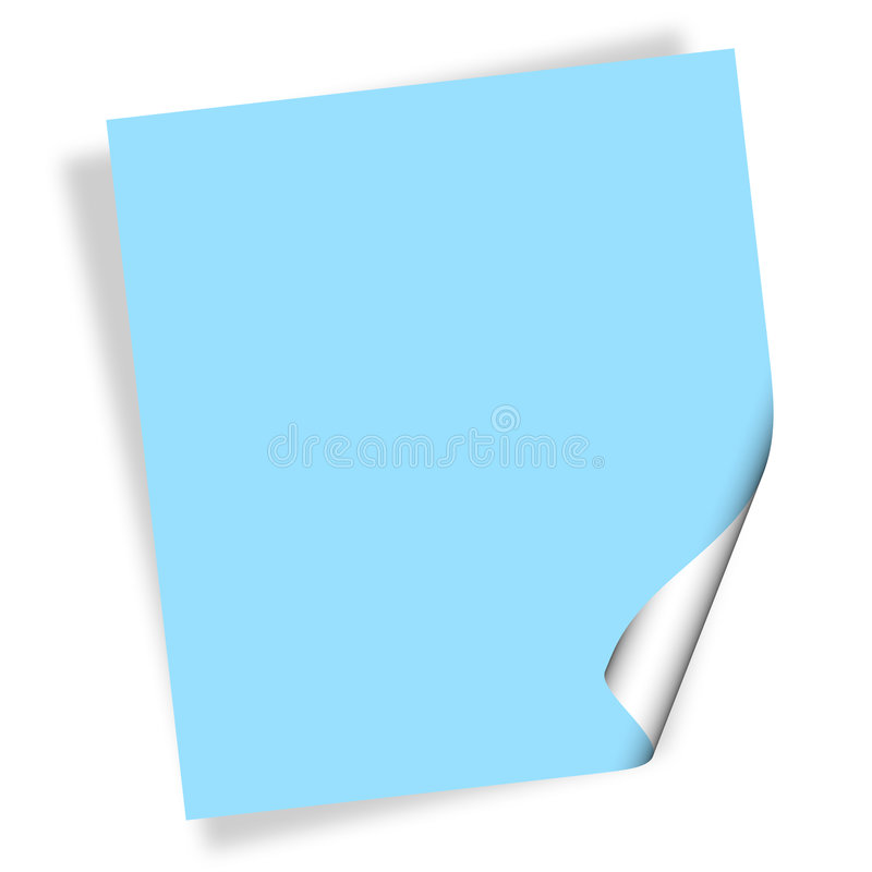 бумага примечания иллюстрация вектора