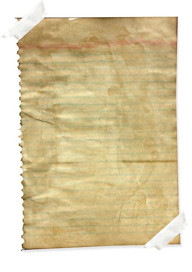 бумага примечания gunge стоковые фото
