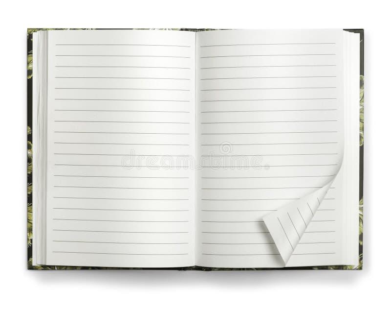 бумага пустой тетради открытая стоковые фото