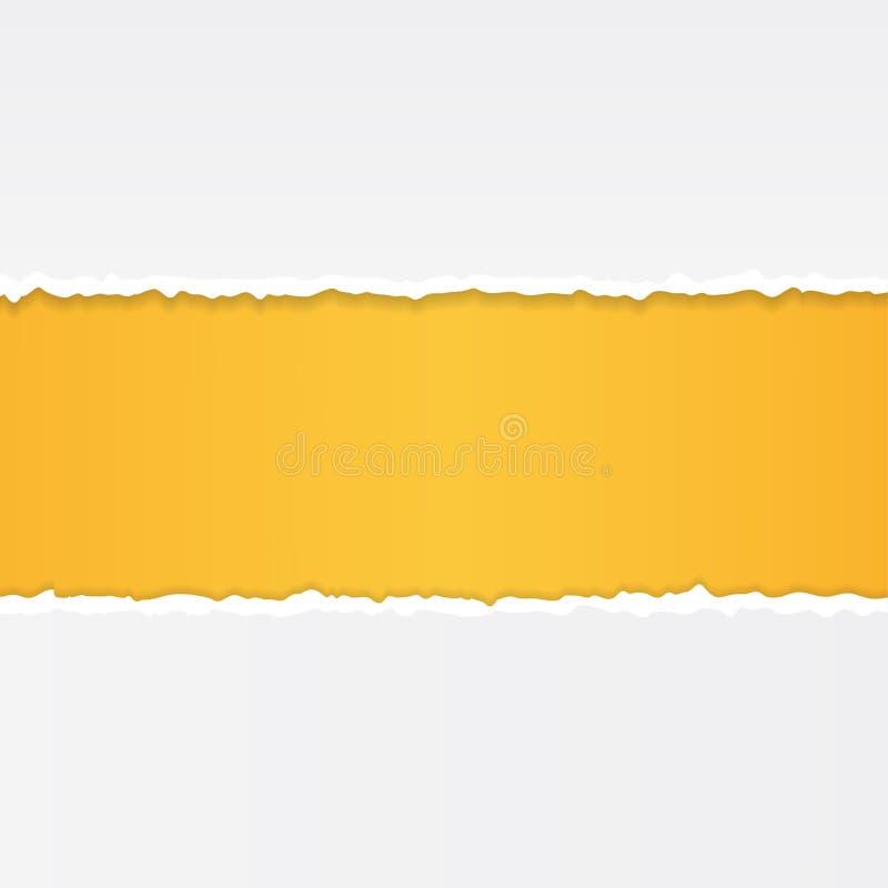 Бумага разрыва на абстрактной предпосылке r иллюстрация вектора
