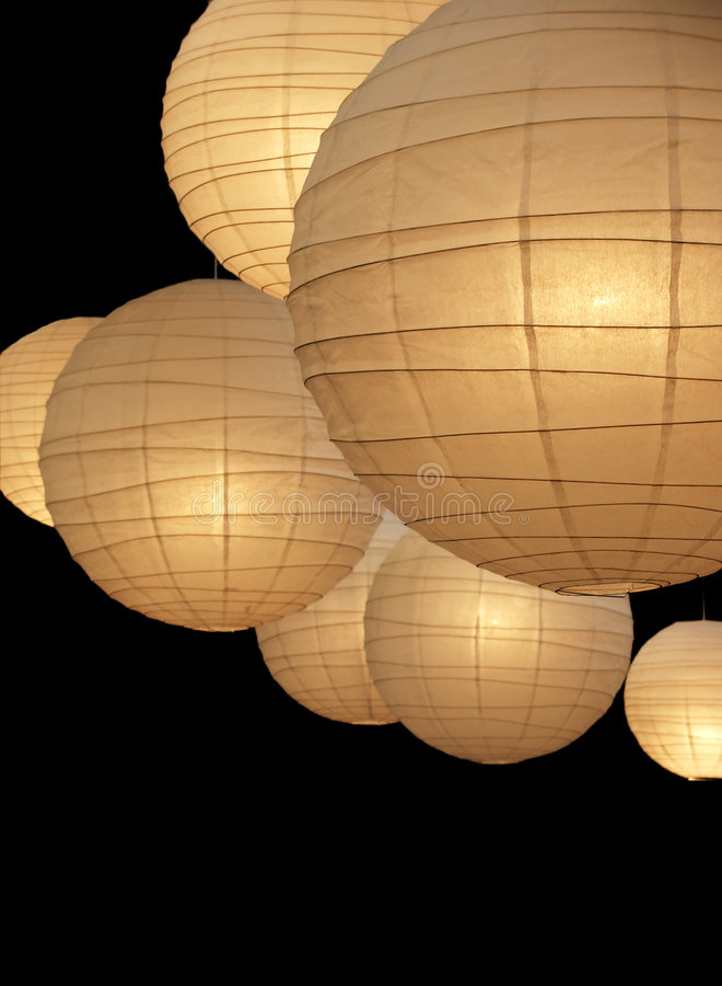 бумага светильников воздушного шара стоковые фото