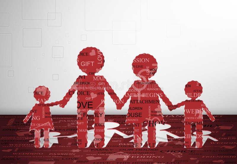 бумага семьи бесплатная иллюстрация