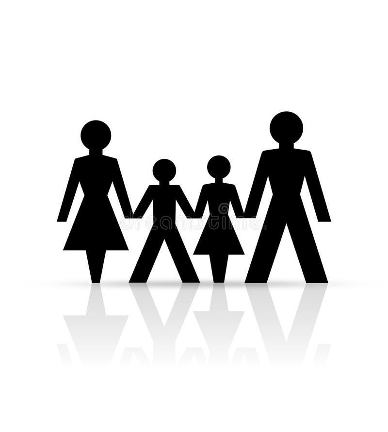 бумага семьи иллюстрация вектора