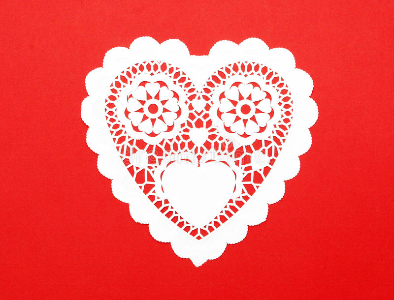 бумага сердца выреза причудливая handmade стоковые изображения rf